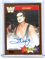 WWE Sting 2017 Topps Heritage Bronze Authentic On Card Autograph SN 46 of 99