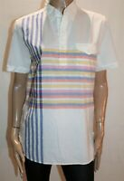 Levi's Brand Vintage White Striped Short Sleeve Shirt Top Size M BNWT #RH84