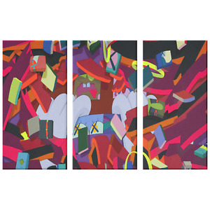 Kaws Poster Canvas Print Wall Art