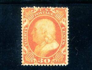 USAstamps Unused VF US Serie of 1857 Franklin Scott 38 OG MLH