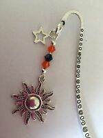 SUN CHARM BOOKMARK Tibetan Silver with Starcharm In Gift Bag