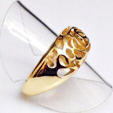 Exklusiver Rosen Ornamente Designer Ring vergoldet 18,8 mm