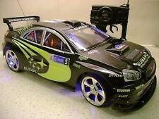 Nero Subaru Impreza stile Radio telecomando auto 20mph 1:10 scala RC funzione