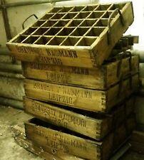 antike alte Bierkiste Holz Bierkasten Industrie Design Leipzig