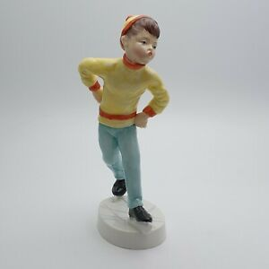 FINE ROYAL WORCESTER FREDA DOUGHTY TUESDAY'S BOY FIGURINE 3534 c.1960 - PERFECT