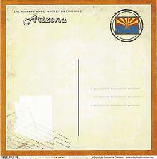 Scrapbook Customs - Arizona Postcard Scrapbooking Paper - 36171