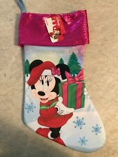 Disney Minnie Mouse Pink And Blue Christmas Holiday Stocking New With Tag