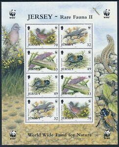2004 JERSEY WWF RARE FAUNA II SHEETLET FINE MINT MNH