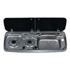 Smev Dometic 9222 Campervan sink and twin hob cooker combi unit & Template RH
