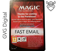 MTGA Ikoria Prerelease Magic Arena 6 Boosters FAST Code EMAIL 1/act