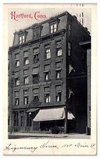 1912 Sigourney House, Hartford, CT Postcard