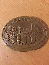 John Deere 40 Series 4 Wheel Drive Tractor 1981 Moline Il Belt Buckle Brass