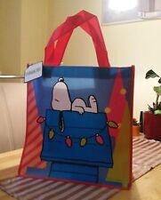 Snoopy / Peanuts - Tasche / Beutel / Bag Tüte Groß  rot blau / Neu mit Etikett