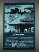A Statement Vintage Print Ad 1982 Wausau Insurance