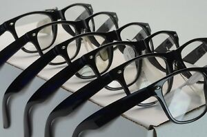 WHOLESALE LOT OF CELEBRITY ATTITUDE BLACK FRAME/CLEAR LENS GLASSES  W-1/CLEAR