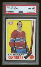 1969 Topps #5 J.C. Tremblay Montreal Canadiens PSA 8