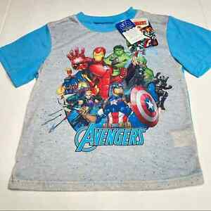 Marvel Advengers Pajama Pjs Top Size 8 Superhero Iron Man Captain America