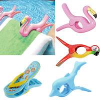 1 Pcs Plastic Sun Lounger Beach Towel Wind Large Clip Sunbed Pegs Fun Pool Grip
