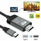Type C To HDMI HDTV AV TV Cable Adapter For Samsung Galaxy S9 S10 Note 9 MacBook
