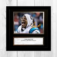 """Cam Newton NFL Carolina Panthers framed/unframed signed poster (10""""x10"""")"""