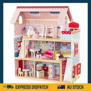 KidKraft 65054 Chelsea Doll Cottage with Furniture, 4 inches - AU