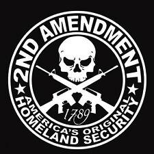 White 2ND AMENDMENT GUN Car Sticker Truck Diesel Car Hunting Decor Vinyl Decal