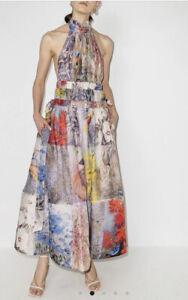 Zimmermann Botanica Halter Gown Dress -BNWT- RRP$1,750 AUD - Size 3
