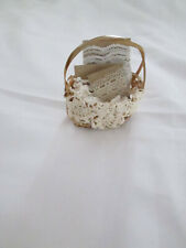 Byers Choice Authentic Accessory Basket, of Lace, Euc