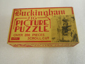 Vintage Buckingham JIG Picture Puzzle WINTER ON THE FARM No.15 Made in USA