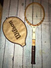 Vintage Wilson Speed Flex Fibre Face Jack Kramer Tennis Racket Light 4 3/8 Cover