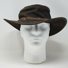 Barmah 1018 Squashy Kangaroo Brown Leather Hat Outback Australia Size XL