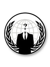Pin Button Badge Ø38mm Embleme Logo Anonymous Anonymes Hacktiviste Web