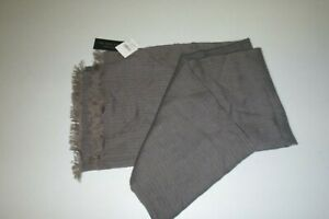 Bloomingdale's mens Tonal-Stripe Woven Scarf soft wool knit Scarf -OS -gray