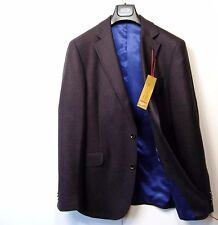 M&s collezione laine pure tailored blazer jacket ~ taille 40 med ~ berry mix