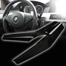 Fit For BMW 5-Ser E60 4DR M5 Model Real Carbon Steering Wheel Cover Trim 2 Piece