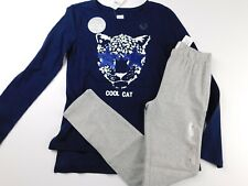 NWT GAP Girl's 2 Pc Outfit Flip Sequin T-Shirt Cool Cat/Leggings XS S M New