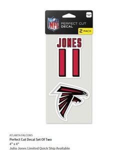 Julio Jones Atlanta Falcons 2 Sticker Decal Badge Emblem NFL Football