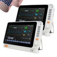 2XLCD 10''Medical Patient Monitor 6-parameter ICU CCU Vital Sign Cardiac Machine