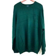 Izod Pullover Sweater Mens Size XL X-Large Cotton Dark Green Popover Jumper