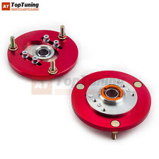 Red Front Upper Camber Plates for BMW E36 3 Series 318 320 323 325 M3 Pair