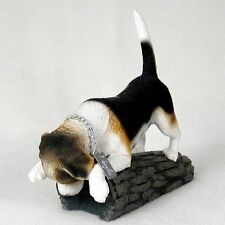 BEAGLE My Dog Figurine / Statue ~ Hand Painted Cold Cast Stone Resin