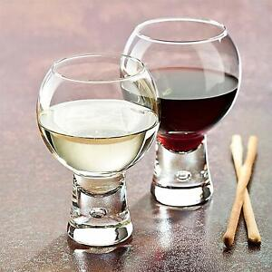 BOX OF 6 - Durobor ALTERNATO bubble base cocktail wine gin glasses 330ml