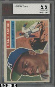 1956 Topps #31 Hank Aaron Milwaukee Braves HOF BVG 5.5 EX+
