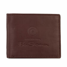 Ben Sherman Dack Leather RFID Coin Wallet in Brown - One Size