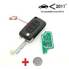 Clé + électronique à programmer Peugeot 207 307 308 3 bouton coffre avec