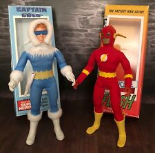 "Mego Custom The Flash and Captain Cold - 8"" Action Figures Lot of 2 w/boxes"