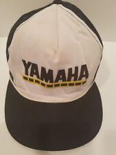 Vtg YAMAHA Trucker Snapback Hat Cap black Mesh Young An