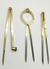 """8"""" Marine Brass Chart Dividers Pencil Compass Navigation Chart Tool Set"""