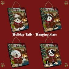 The Stocking Hung Dog Cat Pet Photo Lovers Hanging Slate Wall Decor