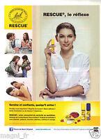 Publicité 2014 - Fleurs de Bach - Rescue